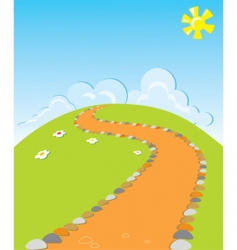 Cartoons road vector