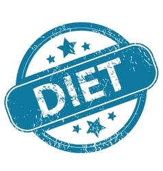 Diet round stamp vector
