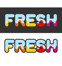 Fresh letters for logo and emblem vector