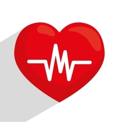 Heart cardio graphic vector