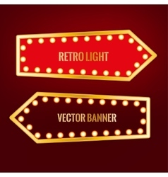 Retro banner image vector image
