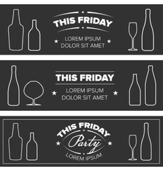 Drink party banners vector