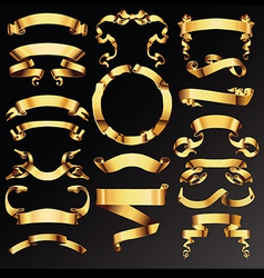 Big collection of luxury ribbons vector