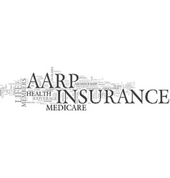 aarp life insurance and medicare insurance an vector image vector image