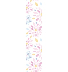 Abstract textile colorful flowers vertical border vector