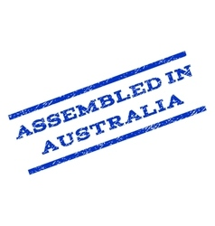 Assembled in australia watermark stamp vector