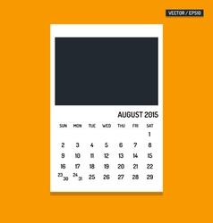 August 2015 calendar vector