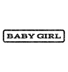 Baby girl watermark stamp vector