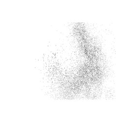 Black grainy texture isolated on white vector