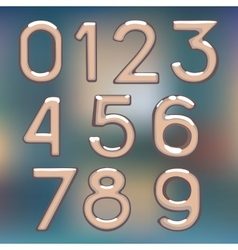 brilliant figures digit drawing metal number figur vector image
