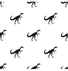 Dinosaur gallimimus icon in black style isolated vector