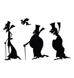dracula black silhouettes vector image vector image