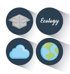 Ecology clean energy icons vector