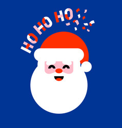 Flat icon of santa claus saying ho ho ho vector