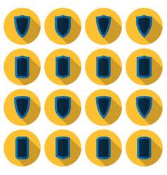 flat shields set vector image
