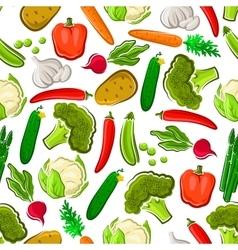 Fresh vegetables vegetarian seamless background vector