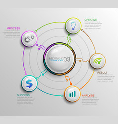 infographic bussiness technology 03 vector image
