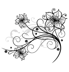 Lilies border vector image vector image
