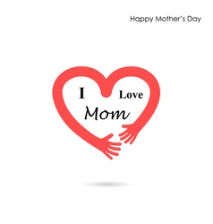 Mother day Icon Logo Holiday Icon Logo Heart Icon vector image vector image