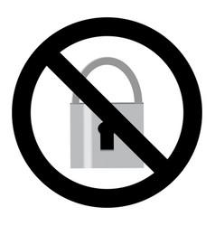 no lock symbol vector image vector image