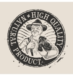 poultry farm logo design template chicken vector image vector image