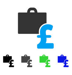 Pound accounting flat icon vector
