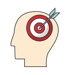 profile head target objetive vector image vector image