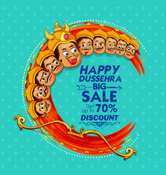 raavana with ten heads for sale promotion of vector image vector image
