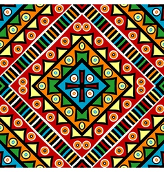 Religious texture with ethnic motifs vector