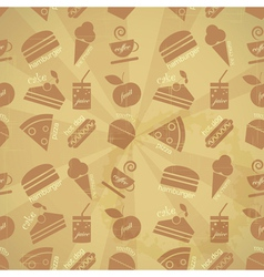 retro menu seamless vector image