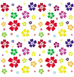 Seamless pattern of flowers on a white background vector image vector image