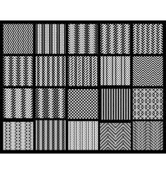 Set of 20 monochrome elegant seamless patterns vector image vector image