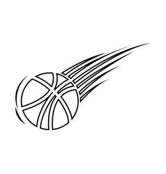 Silhouette basketball icon sport design vector
