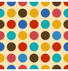 Vintage background seamless pattern with circles vector