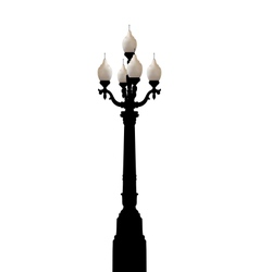 vintage forged lamppost isolated on white vector image vector image