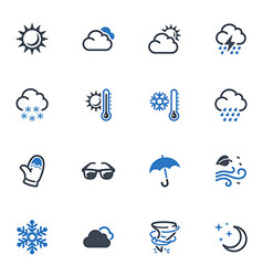 Weather Icons - Blue Series vector image vector image