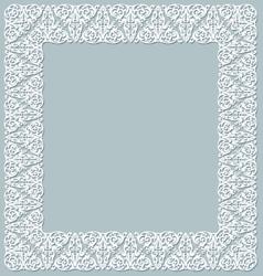 White openwork frame vector