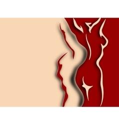 Woman and man torso paper design vector