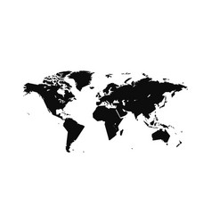 world map in a strict straight contour vector image