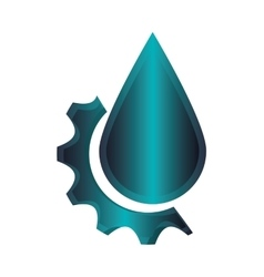 Water drop and gear icon vector