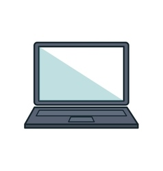 Laptop computer portable flat icon vector