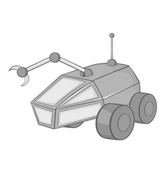 Mars exploration rover icon black monochrome style vector