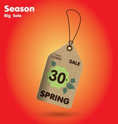 Spring sale labels vector
