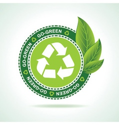 Eco-friendly recycle icon design vector
