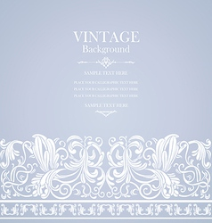 Antique blue card with victorian ornament vector
