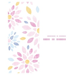 Abstract textile colorful flowers vertical frame vector