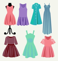 Fashion beautiful clothes collection vector