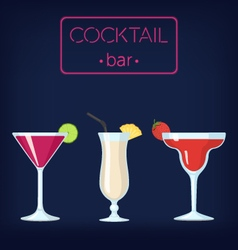 Cocktail bar set1-380 vector