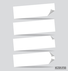 Collection of various white note papers ready for vector