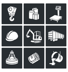 Metals recycling icons set vector